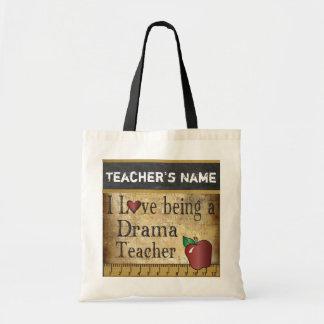 Love Being a Drama Teacher | DIY Name Budget Tote Bag