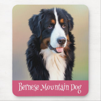 Love Bernese Mountain Dog Puppy Mouse Pad