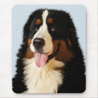 Love Bernese Mountain Puppy Dog Painted Mouse Pad