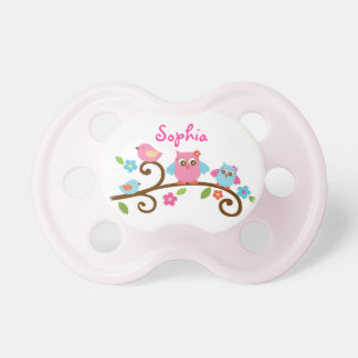 Love Birds Owl Personalized Pacifier