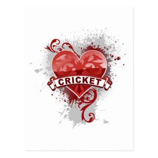 Love Cricket Postcard
