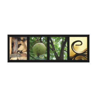 Love Green Nature Elements Creative Mounted Canvas Canvas Print