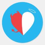 Love / Hate Round Sticker
