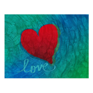 Love Heart Ripples Postcard