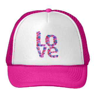 LOVE Heart Text Trucker Hat