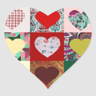 Love Hearts Quilt Heart Sticker