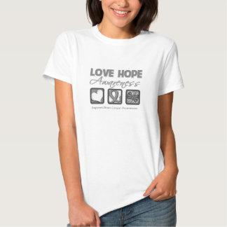 Love Hope Awareness Brain Cancer Shirts