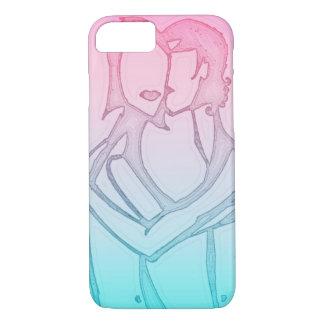 """""""Love"""" iPhone case pastel colors"""