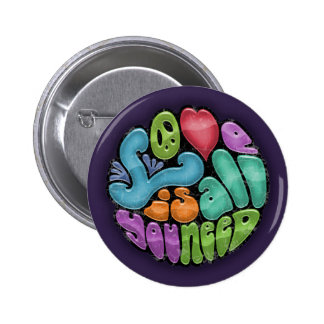 Love Is All You Need -rnd 6 Cm Round Badge
