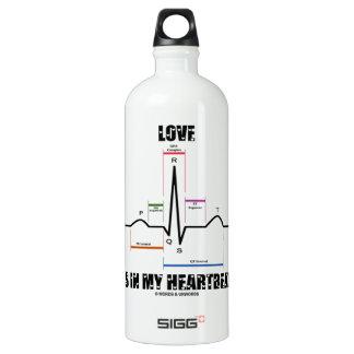 Love Is In My Heartbeat ECG EKG Electrocardiogram SIGG Traveller 1.0L Water Bottle