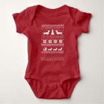 Love Joy Peace Wiener Dogs Christmas Pattern T-shirt