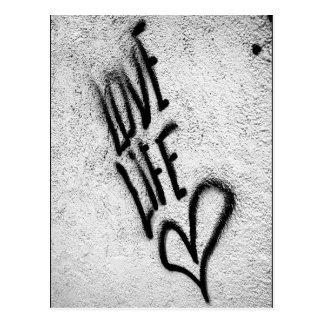 Love Life Graffiti Postcard