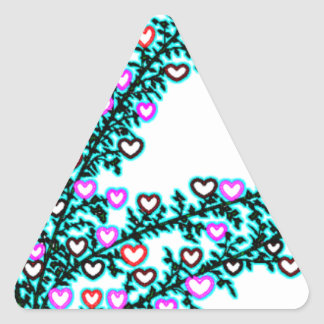 Love, Love, Love!!! Triangle Sticker