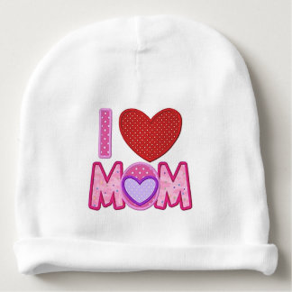 LOVE MOM BABY BEANIE