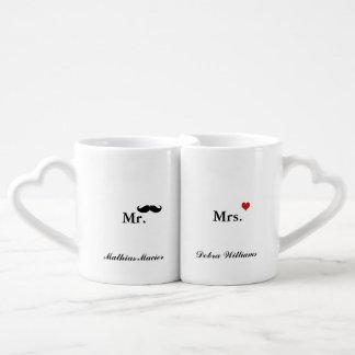 love mr mrs personalized name lovers mug