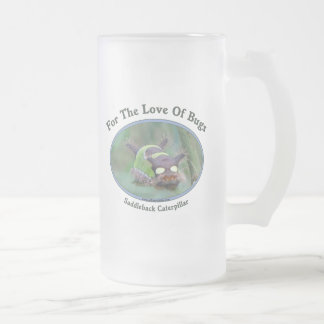 Love Of Bugs Caterpillar Frosted Glass Mug
