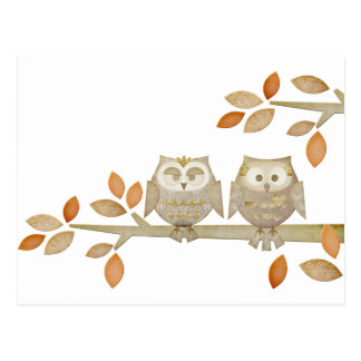 Love Owls in Tree Postcard