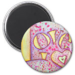 Love Painting 6 Cm Round Magnet