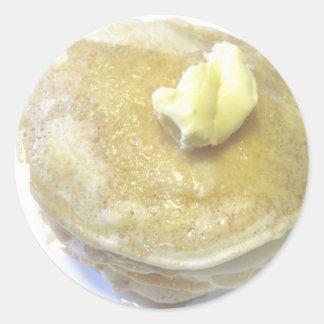 Love Pancakes Round Sticker
