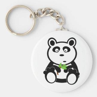 Love panda bear basic round button key ring