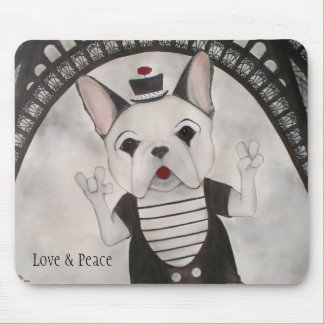 Love, Peace and Paris Mousepad