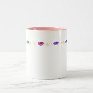 Love, Peace, Freedom & Joy Birds Two-Tone Mug