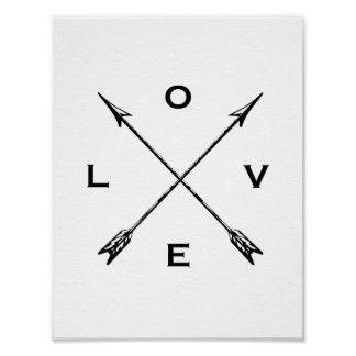 Love Poster - Compass Arrows