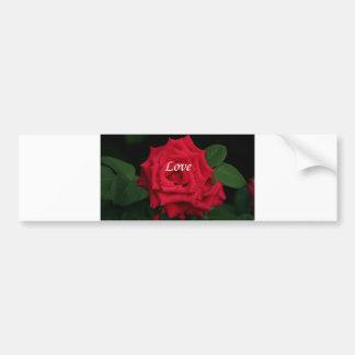 Love romantic red rose for Valentine's, Birthday Bumper Sticker