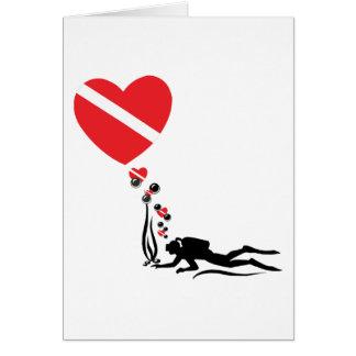 Love SCUBA Greeting Card