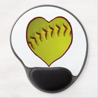 Love Softball Gel Mouse Pad