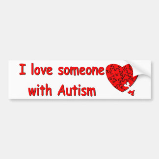 Love Someone w/Autism Bumper Sticker