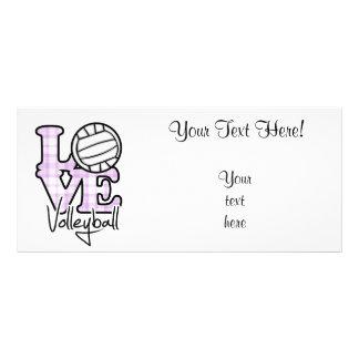Love Volleyball Rack Card Design