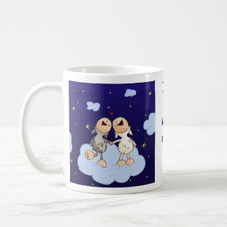 Love you to the moon and back series basic white mug