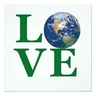 Love Your Earth 13 Cm X 13 Cm Square Invitation Card
