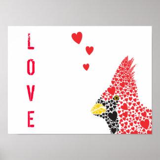 Lovely Cardinal Poster