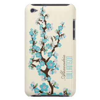 Lovely Cherry Blossoms (aqua) iPod Case-Mate Case