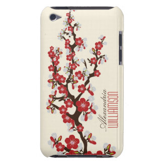Lovely Cherry Blossoms (red) Barely There iPod Cases