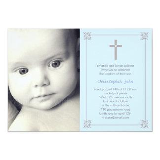 Lovely Cross Photo Baptism/Christening Invitation