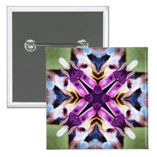 Lovely Feather Dancer Kaleidoscope 15 Cm Square Badge