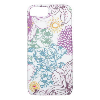 Lovely pattern with colorful flowers iPhone 7 case