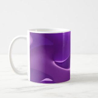 lovely purple basic white mug