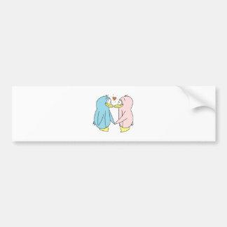 Lover Penguins Bumper Sticker