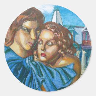 Lovers Round Sticker