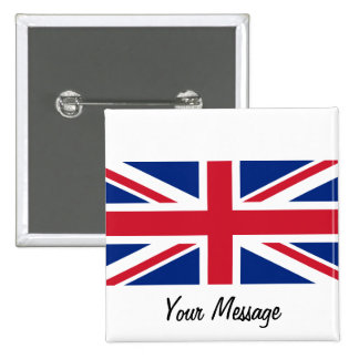 Low Cost Union Jack Flag Badge Name Tag
