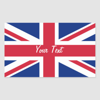 Low Cost Union Jack Flag Name Gift Tag Bookplate Rectangular Sticker