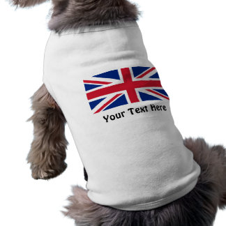 Low Cost Union Jack Flag of Great Britain Dog Top Sleeveless Dog Shirt