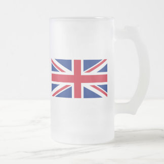 Low Cost Union Jack Flag of Great Britain Glass Frosted Glass Mug