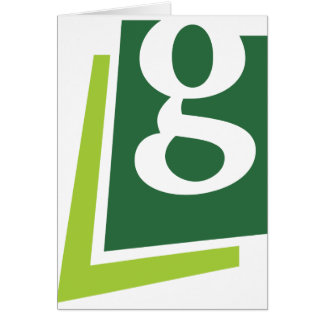 Lowercase G Greeting Cards