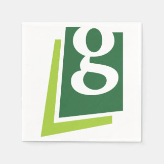 Lowercase G Paper Napkins