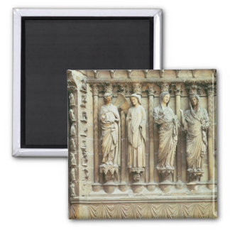(LtoR) The Annunciation and the Visitation, right- Square Magnet